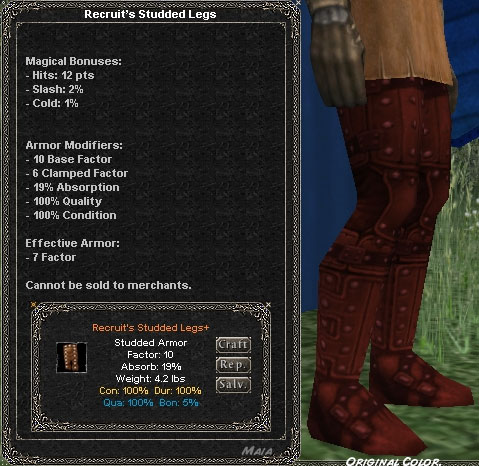 Picture for Recruit's Studded Legs (Alb) (old)