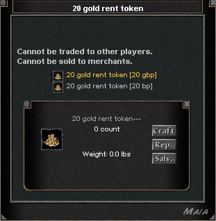 Picture for 20 Gold Rent Token