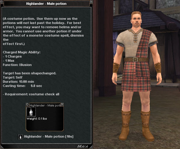 Picture for Highlander - Male Potion