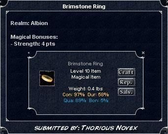 Brimstone Ring (Alb) :: Items :: Dark Age of Camelot :: ZAM