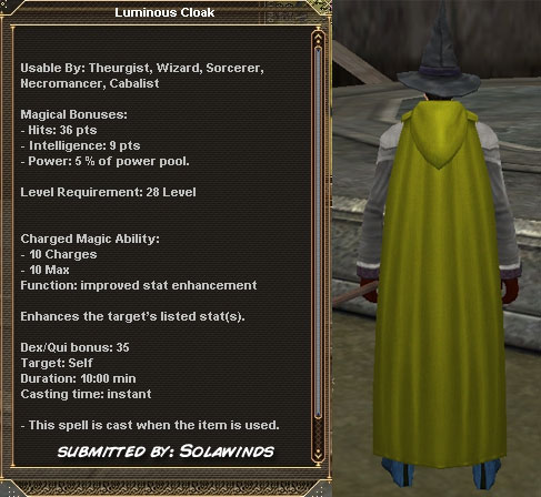 Picture for Luminous Cloak (Alb) (int)