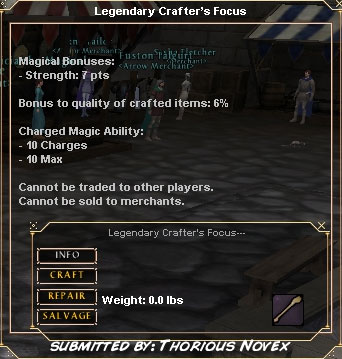 Legendary Crafter's Focus :: Items :: Dark Age of Camelot :: ZAM