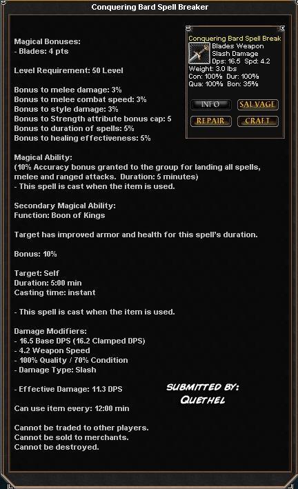 Conquering Bard Spell Breaker :: Items :: Dark Age of