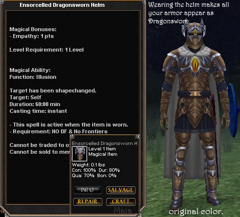 Ensorcelled Dragonsworn Helm Items Dark Age Of Camelot Zam