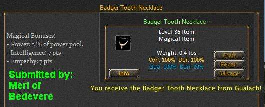 Picture for Badger Tooth Necklace