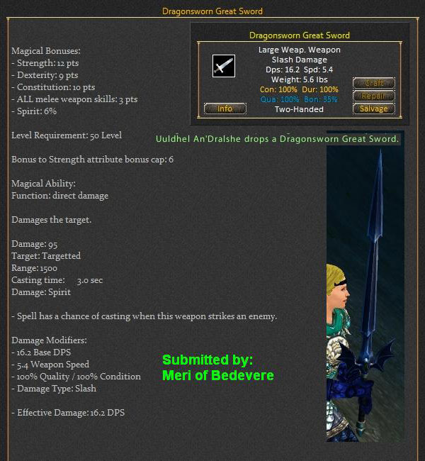 Dragonsworn Great Sword Items Dark Age Of Camelot Zam