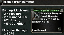 Picture for Bronze Great Hammer (Mid)