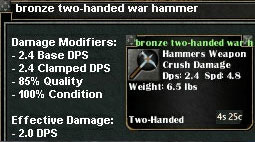 Picture for Bronze Two-Handed War Hammer