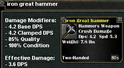 Picture for Iron Great Hammer (Mid)