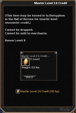 Picture for Master Level 2.6 Credit