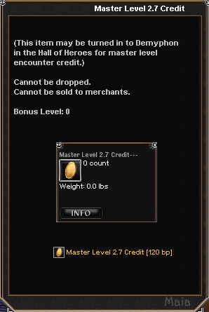 Picture for Master Level 2.7 Credit