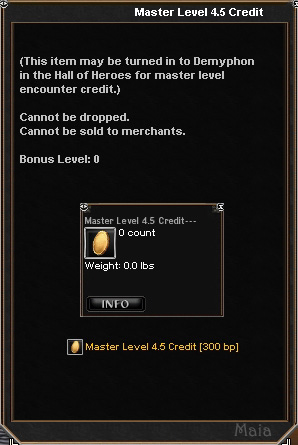 Picture for Master Level 4.5 Credit