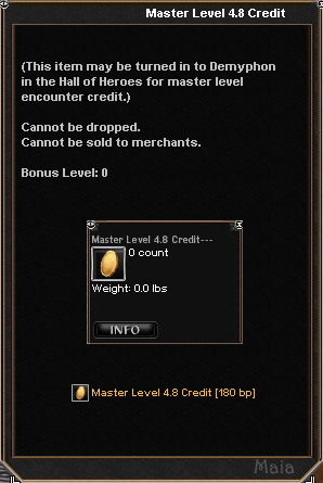 Picture for Master Level 4.8 Credit