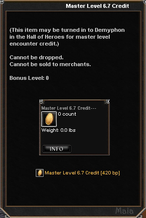Picture for Master Level 6.7 Credit