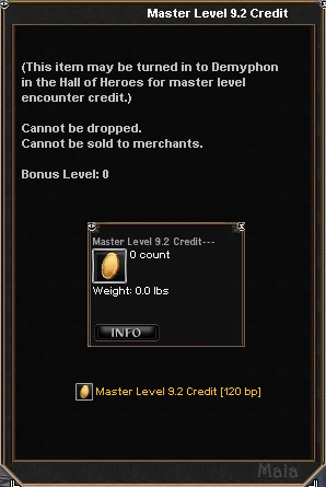 Picture for Master Level 9.2 Credit