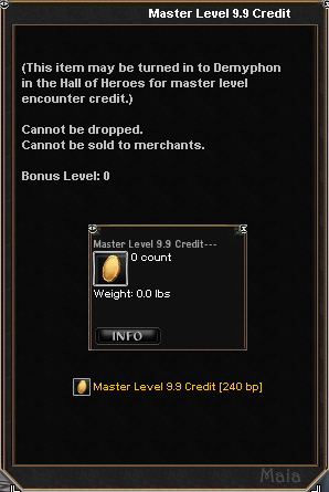 Picture for Master Level 9.9 Credit