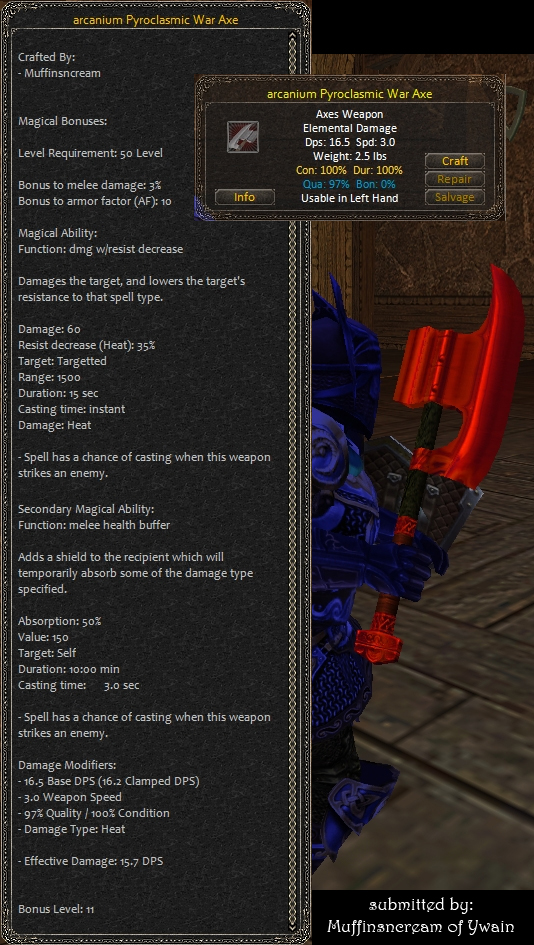 Picture for Arcanium Pyroclasmic War Axe