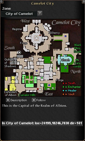 Location of Master Edric